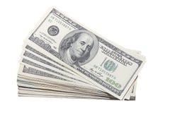 Stash de los E.E.U.U. ciento dinero en circulación de cuentas de dólar Imagen de archivo