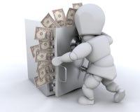 Stashing money Royalty Free Stock Photography