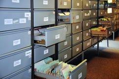 Stasien arkiverar utställning på det Stasi museet (Berlin) Arkivfoton