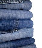 Stask van jeans Royalty-vrije Stock Afbeeldingen