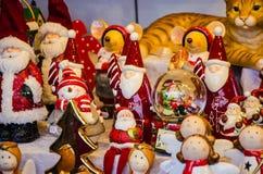 Stass av jul claus santa Arkivbilder