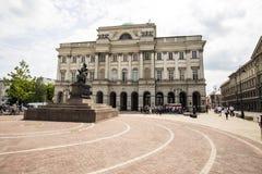 Staszic Palac, Warszawa, Polska Obraz Royalty Free