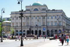 Staszic Palace in Polish capital Warsaw. Staszic Palace, a building in neoclassical style that holds several several scientific and scholarly organizations. In Stock Photos