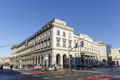 Staszic Palace seen from the side, Warsaw Royalty Free Stock Image