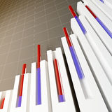 Stat financial background. Fine 3d image of stat graph financial background Royalty Free Stock Image