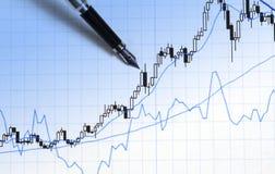Stat finanziario Immagine Stock