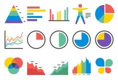 Stat icons set 1 stock illustration