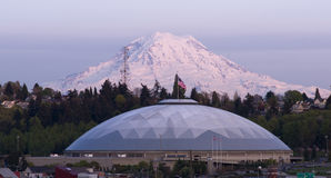 Stat unido Rainier City View Tacoma Washington geodésico del Mt de la bóveda imagen de archivo libre de regalías