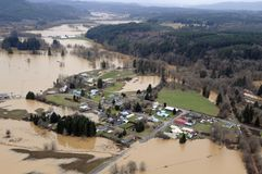 Stat Washingtonflod arkivfoton