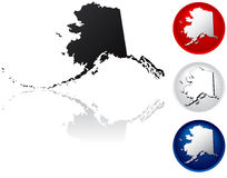 State of Alaska Icons Stock Images