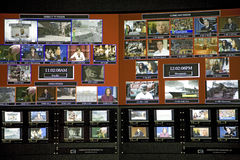 State of the art digital control room Royalty Free Stock Photos
