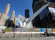 The state-of-the-art World Trade Center Transportation Hub designed by Santiago Calatrava Royalty Free Stock Photos