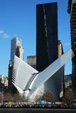 The state-of-the-art World Trade Center Transportation Hub designed by Santiago Calatrava Stock Image