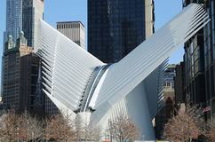 The state-of-the-art World Trade Center Transportation Hub designed by Santiago Calatrava Royalty Free Stock Image