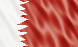 State of Bahrain Flag. Waving In Wind royalty free illustration