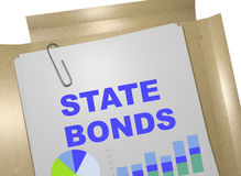 State Bonds - business concept. 3D illustration of STATE BONSD title on business document Stock Images