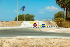 State border between North and South Cyprus Stock Photos