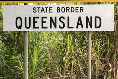 State border - Queensland Stock Photography