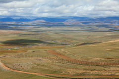 The state border between Rosiey and Mongolia in the Altai Mounta Royalty Free Stock Photography