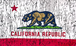 State of California Flag. Grunge Rustic State of California Flag royalty free stock photography