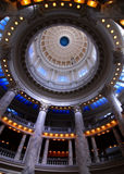 State Capital Building. Dome with lights and glass Royalty Free Stock Image