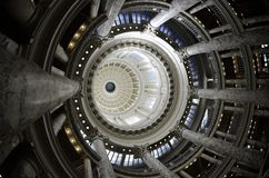 State Capital Building Dome. With lights and glass Royalty Free Stock Images