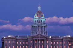 State Capitol Building, Denver, CO. State Capitol Building in Denver, Colorado at sunset Stock Images