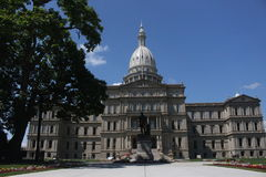 State Capitol. The State Capitol building in Lansing, MI stock photos