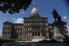 State Capitol Building. The state capitol in Lansing, Michigan royalty free stock photo