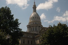 State Capitol Building. The state capitol in Lansing, Michigan royalty free stock photography