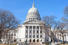 State capitol building in Madison, Wisconsin USA on a bright win Royalty Free Stock Photo