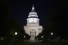 State Capitol Building at Night in Downtown Austin, Texas Royalty Free Stock Photos