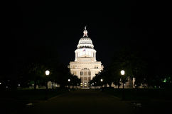 State Capitol Building at Night in Downtown Austin, Texas. A nice clean shot of the Texas State Capitol Building in downtown Austin, Texas at night Royalty Free Stock Image