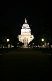 State Capitol Building at Night in Downtown Austin, Texas Royalty Free Stock Images