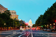 State Capitol building in Washington, DC. In the evening royalty free stock image