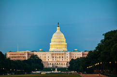 State Capitol building in Washington, DC. In the evening stock photos