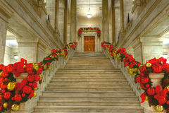State Capitol at Christmas. Arkansas state capitol rotunda decorated for Christmas Royalty Free Stock Photography