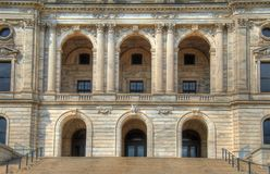 State capitol entrance. Entryway to the St. Paul Minnesota state capitol building Stock Photo