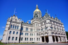 Capitol building. State Capitol in Hartford, CT, USA Stock Photos