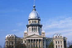 State Capitol of Illinois Royalty Free Stock Photo