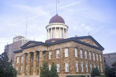 State Capitol of Illinois. Springfield Stock Photo