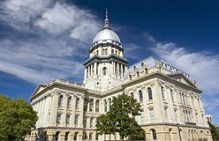State Capitol of Illinois. In Springfield Stock Photo