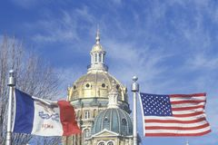 State Capitol of Iowa, Des Moines Stock Photo