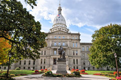 State Capitol-Lansing,Michigan. The state capitol building of Michigan in the state capital city of Lansing, housing the executive and legislative branches of Royalty Free Stock Photos