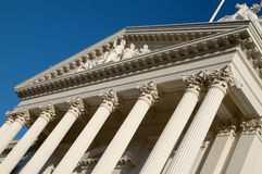 State capitol library with columns Royalty Free Stock Photography