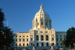 State Capitol of Minnesota. In  St. Paul Stock Photography