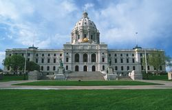 State Capitol of Minnesota. In  St. Paul Stock Images