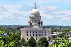 Providence, Rhode Island. State capitol in Providence, Rhode Island. City in New England region of the US stock photo