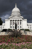 State Capitol before the storm Royalty Free Stock Images