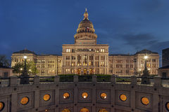 State Capitol of Texas at Night Stock Image